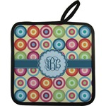 Retro Circles Pot Holder (Personalized)