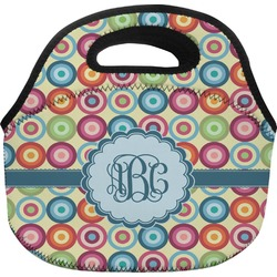 Retro Circles Lunch Bag (Personalized)