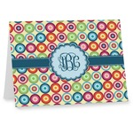Retro Circles Note cards (Personalized)