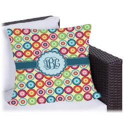 Retro Circles Outdoor Pillow (Personalized)