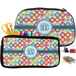 Retro Circles Pencil / School Supplies Bag (Personalized)