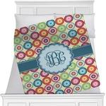 Retro Circles Minky Blanket (Personalized)