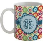 Retro Circles Coffee Mug (Personalized)
