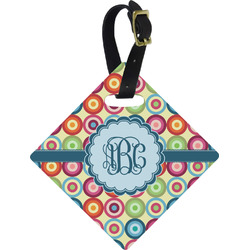 Retro Circles Diamond Luggage Tag (Personalized)