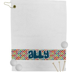 Retro Circles Golf Towel (Personalized)