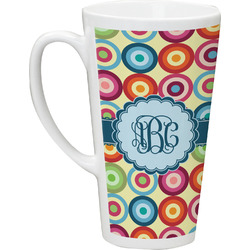 Retro Circles Latte Mug (Personalized)