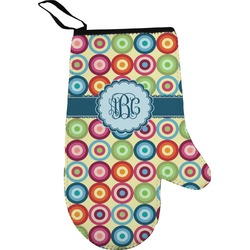 Retro Circles Right Oven Mitt (Personalized)