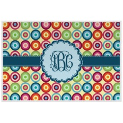 Retro Circles Placemat (Laminated) (Personalized)