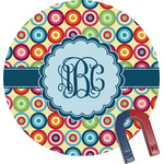 Retro Circles Round Magnet (Personalized)