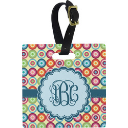 Retro Circles Luggage Tags (Personalized)