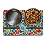 Retro Circles Dog Food Mat (Personalized)
