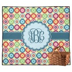 Retro Circles Outdoor Picnic Blanket (Personalized)