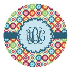 Retro Circles Round Decal - Custom Size (Personalized)