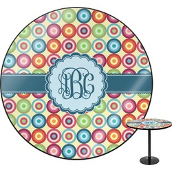 Retro Circles Round Table (Personalized)