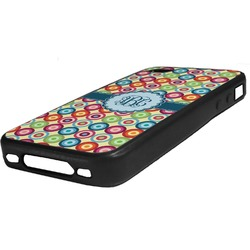 Retro Circles Rubber iPhone Case 4/4S (Personalized)