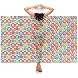 Retro Circles Sheer Sarong (Personalized)
