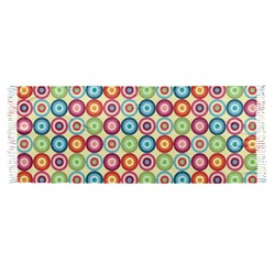 Retro Circles Faux Pashmina Scarf (Personalized)