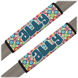 Retro Circles Seat Belt Covers (Set of 2) (Personalized)