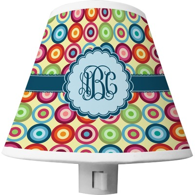 Retro Circles Shade Night Light (Personalized)