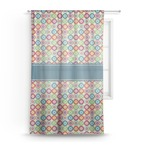 Retro Circles Sheer Curtains (Personalized)