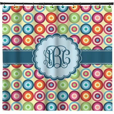 Retro Circles Shower Curtain (Personalized)