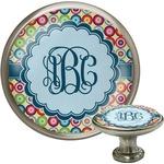 Retro Circles Cabinet Knob (Silver) (Personalized)