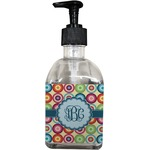 Retro Circles Soap/Lotion Dispenser (Glass) (Personalized)