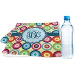 Retro Circles Sports & Fitness Towel (Personalized)