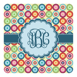 Retro Circles Square Decal - Custom Size (Personalized)
