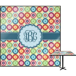 Retro Circles Square Table Top (Personalized)