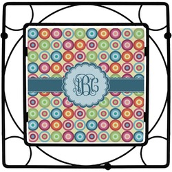 Retro Circles Square Trivet (Personalized)