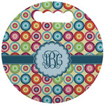 Retro Circles Stadium Cushion (Round) (Personalized)