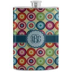 Retro Circles Stainless Steel Flask (Personalized)