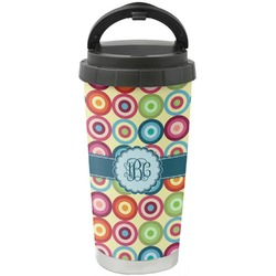Retro Circles Stainless Steel Coffee Tumbler (Personalized)
