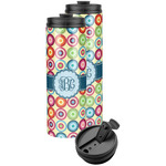 Retro Circles Stainless Steel Skinny Tumbler (Personalized)