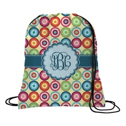 Retro Circles Drawstring Backpack (Personalized)