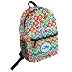 Retro Circles Student Backpack (Personalized)