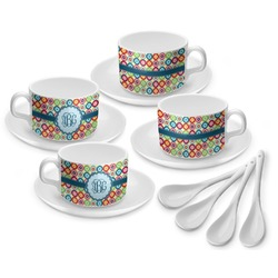 Retro Circles Tea Cup - Set of 4 (Personalized)
