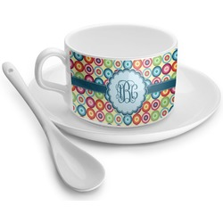 Retro Circles Tea Cup - Single (Personalized)