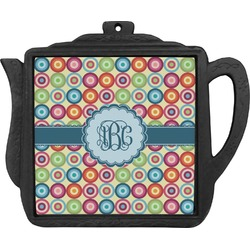Retro Circles Teapot Trivet (Personalized)