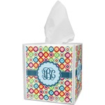Retro Circles Tissue Box Cover (Personalized)