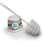 Retro Circles Toilet Brush (Personalized)