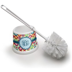 Retro Circles Toilet Brush (Personalized)