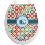 Retro Circles Toilet Seat Decal (Personalized)