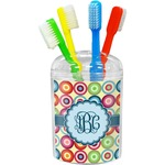Retro Circles Toothbrush Holder (Personalized)