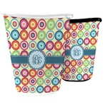 Retro Circles Waste Basket (Personalized)