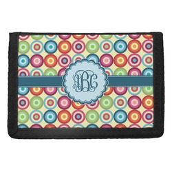 Retro Circles Trifold Wallet (Personalized)