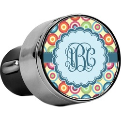 Retro Circles USB Car Charger (Personalized)