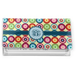 Retro Circles Vinyl Checkbook Cover (Personalized)