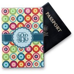 Retro Circles Vinyl Passport Holder (Personalized)